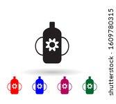 feeding bottle multi color icon....