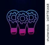 light lamp bulbs with cogwheel...