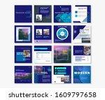 social media pack posts for...   Shutterstock .eps vector #1609797658