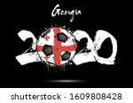 abstract numbers 2020 and... | Shutterstock .eps vector #1609808428