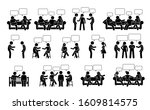 people conversation and... | Shutterstock .eps vector #1609814575