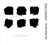 brush stroke watercolor.vector... | Shutterstock .eps vector #1609827505