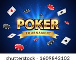 poker tournament banner... | Shutterstock .eps vector #1609843102