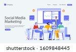 social media marketing vector...