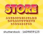 modern styled 3d trendy font... | Shutterstock .eps vector #1609859125