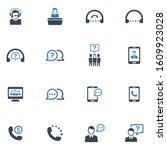 customer support icon set 2  ... | Shutterstock .eps vector #1609923028