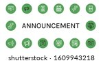 set of announcement icons. such ... | Shutterstock .eps vector #1609943218