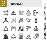 triangle icon set. collection...   Shutterstock .eps vector #1609948018