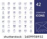 contour icons set. collection...