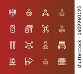 editable 16 reaction icons for... | Shutterstock .eps vector #1609960195