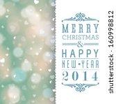 vector elegant merry christmas... | Shutterstock .eps vector #160998812