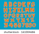 vector real hand drawn letters... | Shutterstock .eps vector #161004686