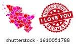 love mosaic schleswig holstein...   Shutterstock .eps vector #1610051788