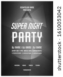 party poster.abstract black and ... | Shutterstock .eps vector #1610053042