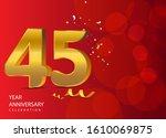 45 years anniversary... | Shutterstock .eps vector #1610069875