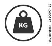 kilogram weight graphic icon.... | Shutterstock .eps vector #1610097412