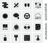 16 business universal icons... | Shutterstock .eps vector #1610130928