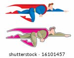 blue,cape,cartoon,fly,hero,illustration,isolated,man,red,smile,super,superhero,vector