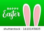 easter rabbit  easter bunny.... | Shutterstock .eps vector #1610145835