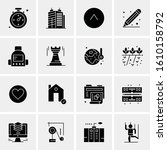 16 business universal icons... | Shutterstock .eps vector #1610158792
