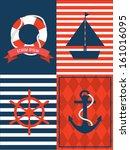 nautical template vector... | Shutterstock .eps vector #161016095