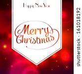 merry christmas typographic...   Shutterstock .eps vector #161018192