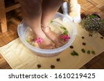 Scalding Feet In Bowl With...