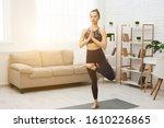Sporty Woman Doing Yoga ...