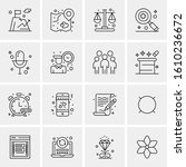 16 business universal icons... | Shutterstock .eps vector #1610236672