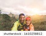Happy Couple Taking Selfie...