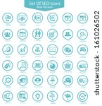 set of seo icons blue version... | Shutterstock .eps vector #161026502