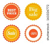 set of various sale badges....
