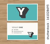 Business Card With Alphabet...