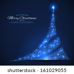 vector illustration of xmas tree | Shutterstock .eps vector #161029055