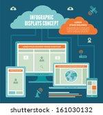 adaptive responsive design. web ... | Shutterstock .eps vector #161030132