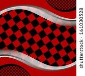 vector checkered racing flag...   Shutterstock .eps vector #161030528