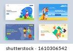 set of landing page design with ...