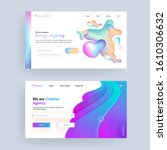 gradient abstract landing page...