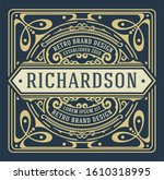 old label with floral details....   Shutterstock .eps vector #1610318995