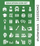 education and science icons... | Shutterstock .eps vector #161032442