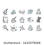 set of icons for different... | Shutterstock .eps vector #1610378368