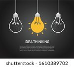 light bulb idea sunshine on... | Shutterstock .eps vector #1610389702