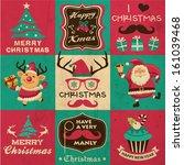 vintage christmas symbols ...   Shutterstock .eps vector #161039468