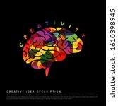 creative idea concept... | Shutterstock .eps vector #1610398945