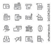 payment methods  money...   Shutterstock .eps vector #1610426155