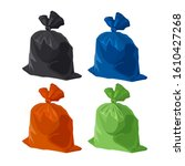 garbage bag icons set. rubbish  ... | Shutterstock .eps vector #1610427268