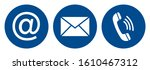 contact us icons set flat blue... | Shutterstock .eps vector #1610467312