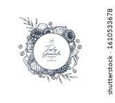 tasty granola round design... | Shutterstock .eps vector #1610533678