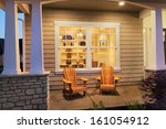 porch with interior view and... | Shutterstock . vector #161054912