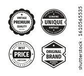 business badges vector set in... | Shutterstock .eps vector #1610565535
